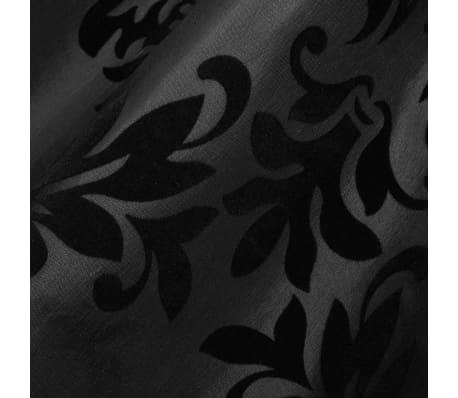 2 Barock-Taft-Vorhänge 140 x 245 cm Schwarz[3/3]