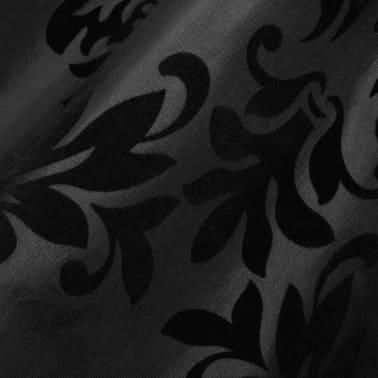 vidaXL 2 Gordijnen tafzijde barok 140 x 245 cm zwart[3/3]