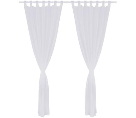 acheter 2 rideaux oeillets en lin pastiche 135 x 245 cm. Black Bedroom Furniture Sets. Home Design Ideas