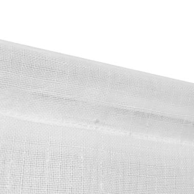 2 leinenoptik k chengardinen 60 x 120 cm wei g nstig kaufen. Black Bedroom Furniture Sets. Home Design Ideas