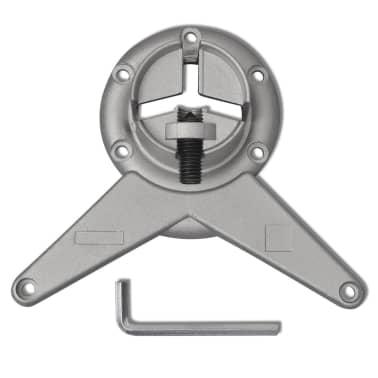 4 pieds de table réglables en hauteur 710 mm Chromé[4/4]