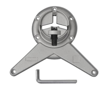 4 Pieds de table Chrome à hauteur réglable 870 mm[4/4]