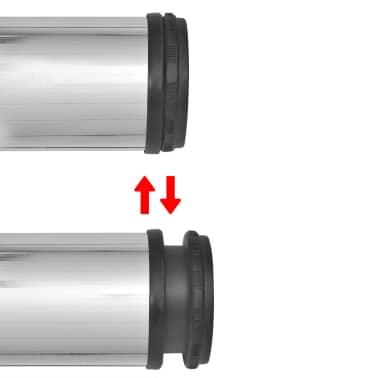 4 Pieds de table Chrome à hauteur réglable 870 mm[3/4]