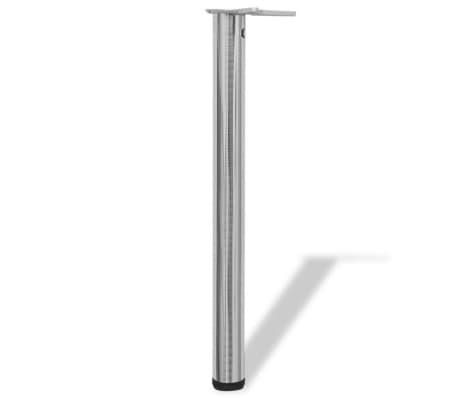 4 x Noge za Mizo iz Brušenega Niklja Nastavljiva Višina 710 mm[2/4]