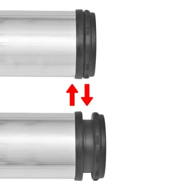 4 x Noge za Mizo iz Brušenega Niklja Nastavljiva Višina 710 mm[3/4]