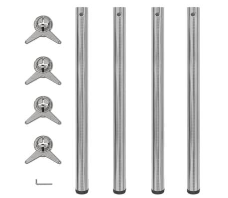4 Reguliuojamo Aukščio Stalo Kojos, Matinis Nikelis, 870 mm[1/4]