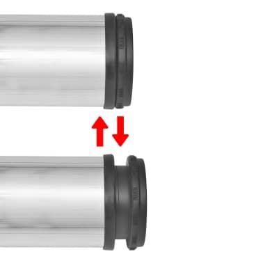 4 Pieds de table Nickel Brossé à hauteur réglable 870 mm[3/4]