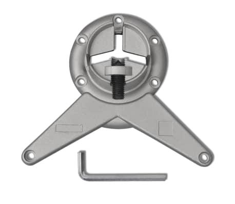 4 Nastavljive Noge za Mizo Brušeni Nikelj 1100 mm[4/4]