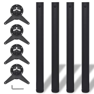 vidaXL 4 pieds de table réglables en hauteur 710 mm Noir[1/4]
