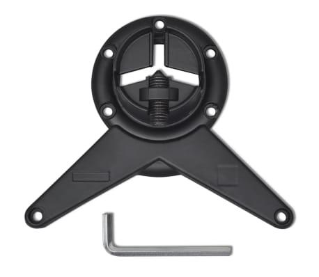 vidaXL 4 pieds de table réglables en hauteur 710 mm Noir[4/4]