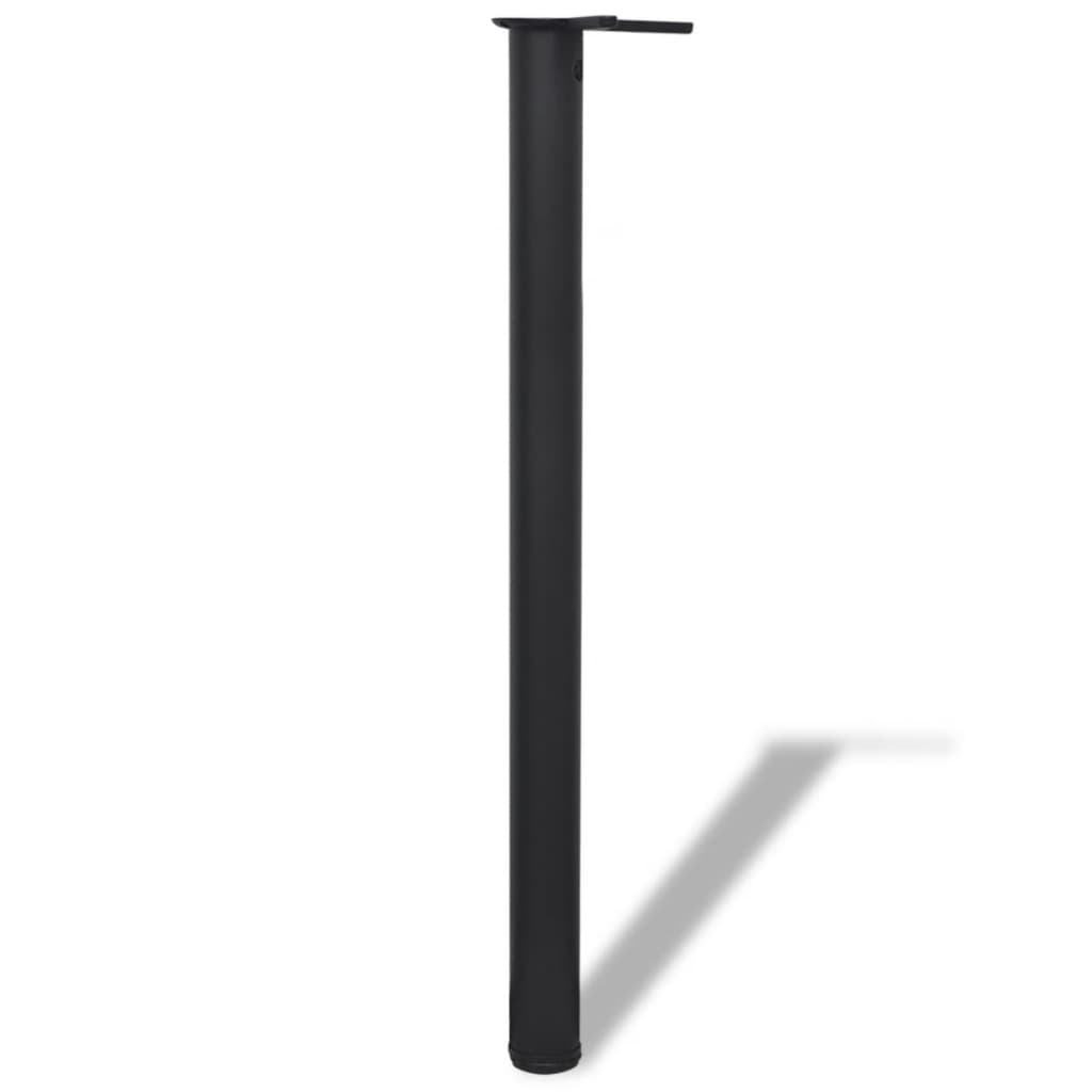 4 Podesive Noge za Stol Crne 870 mm
