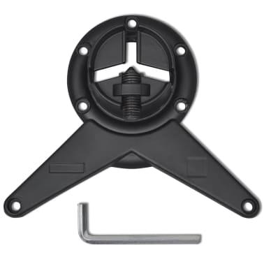 4 Pieds de table Noir à hauteur réglable 1100 mm[4/4]