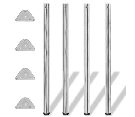 4 Pieds de table Chrome à hauteur réglable 1100 mm[1/4]