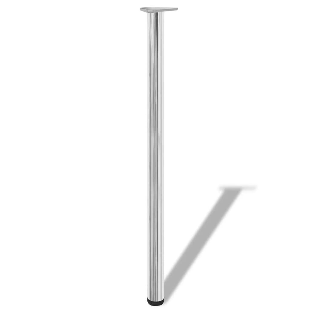 4 Podesive Noge za Stol Boja Krom 1100 mm