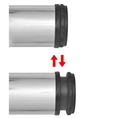 4 Pieds de table Chrome à hauteur réglable 1100 mm[3/4]
