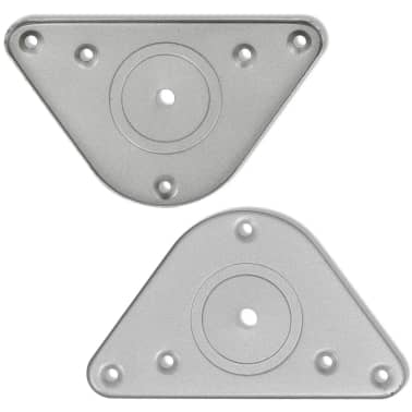 4 Pieds de table Chrome à hauteur réglable 1100 mm[4/4]