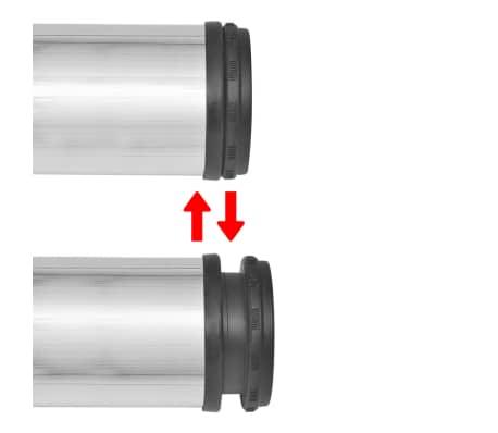 4 Justerbara raka bordsben i borstad nickel 710 mm[3/4]