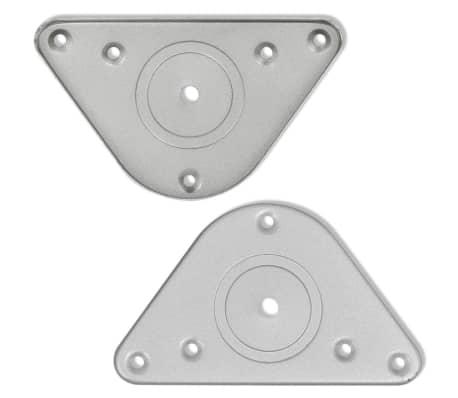 4 Pieds de table Nickel Brossé à hauteur réglable 710 mm[4/4]