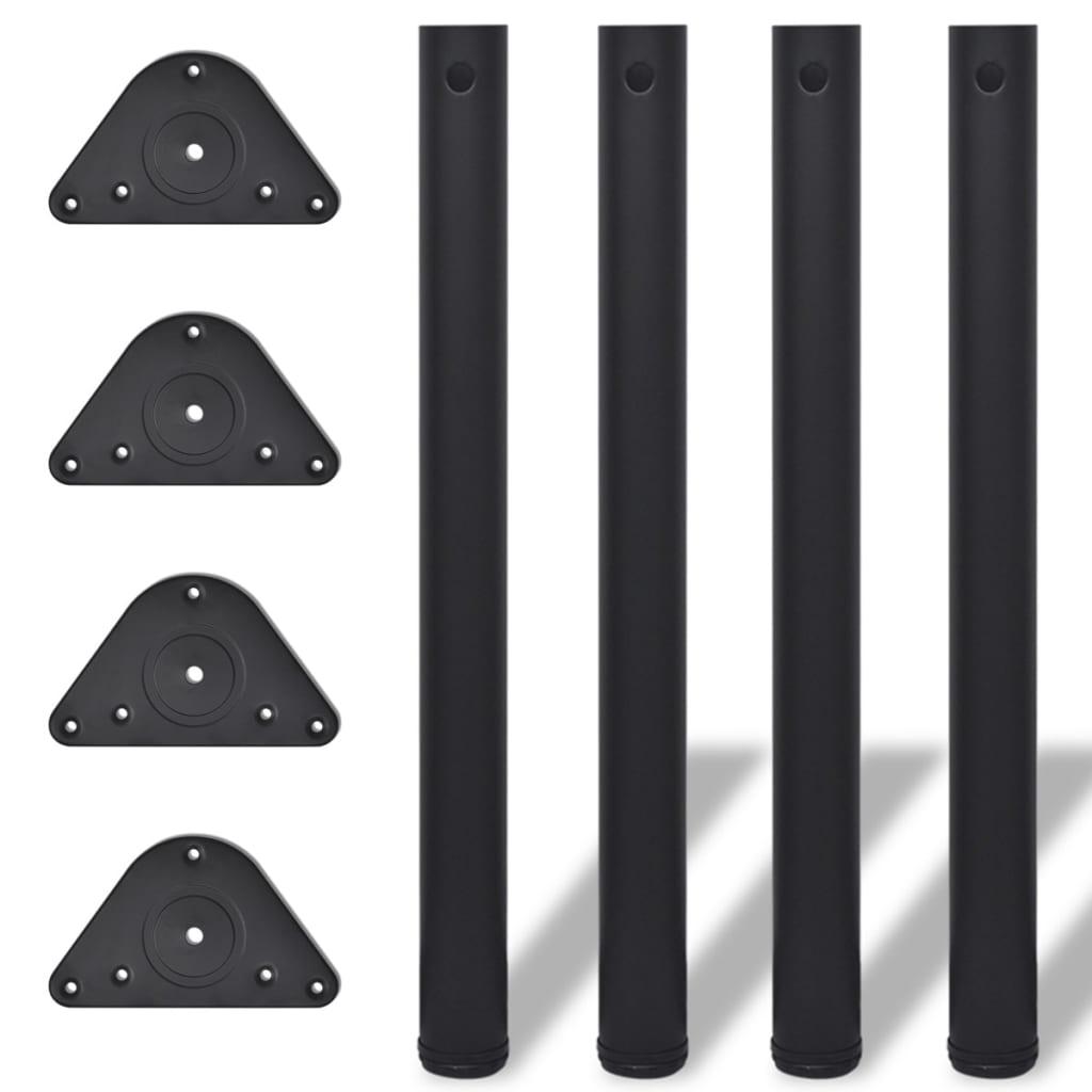 Picioare de masă cu înălțime reglabilă, 4 buc, 710 mm, negru vidaxl.ro