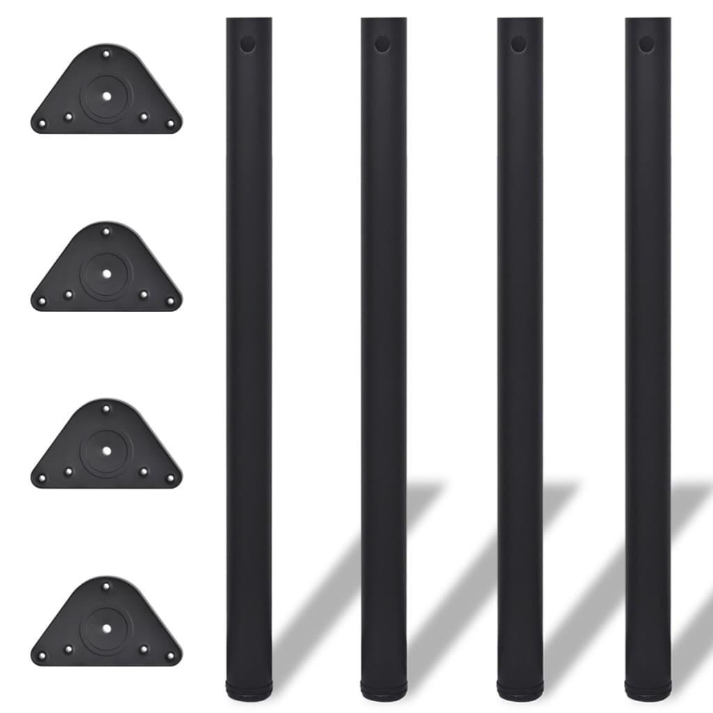 Picioare de masă reglabile, Negre, 870 mm, 4 buc. imagine vidaxl.ro
