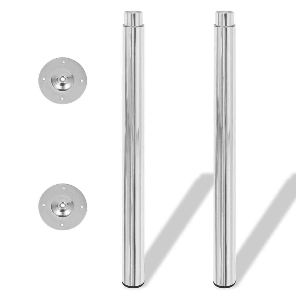 2 Teleskopski Nogi za Mizo Krom 710 mm - 1100 mm