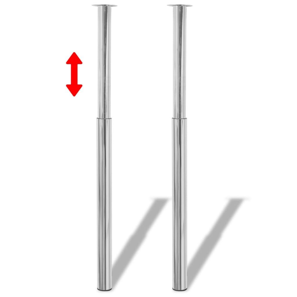 2 Picioare de masă telescopice din crom, 710 mm - 1100 mm poza 2021 vidaXL