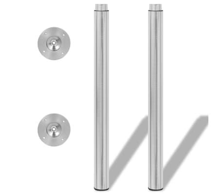 2 Teleskopinės Stalo Kojos, Matinis Nikelis, 710 - 1 100 mm[3/5]