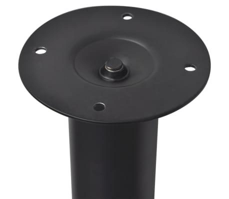 2 Teleskopski Nogi za Mizo Črne Barve 710 mm - 1100 mm[4/5]