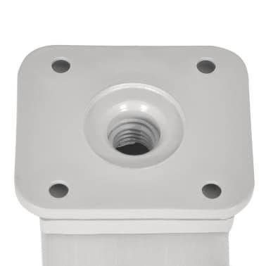 4 x Möbelfuß Sofafuß Sockelfuß Nickel gebürstet quadratisch 60 mm[4/4]