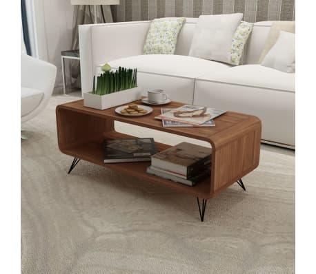 tv schrank kaffeetisch mit lagerfach braun 89 5 x 39 cm. Black Bedroom Furniture Sets. Home Design Ideas