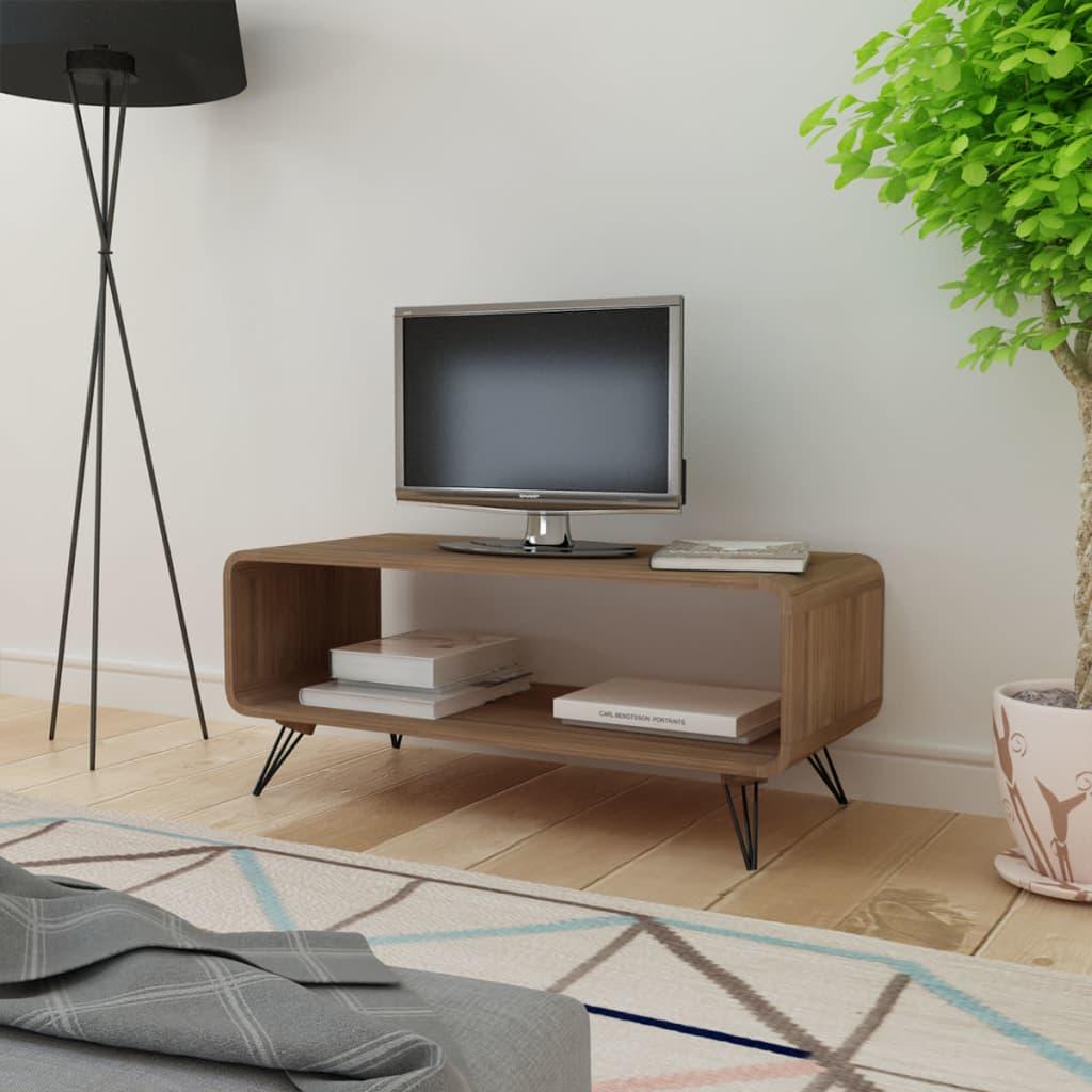 Comodă TV/masă cafea Hooper cu spațiu depozitare, 89,5 x 39 cm, maro poza 2021 vidaXL