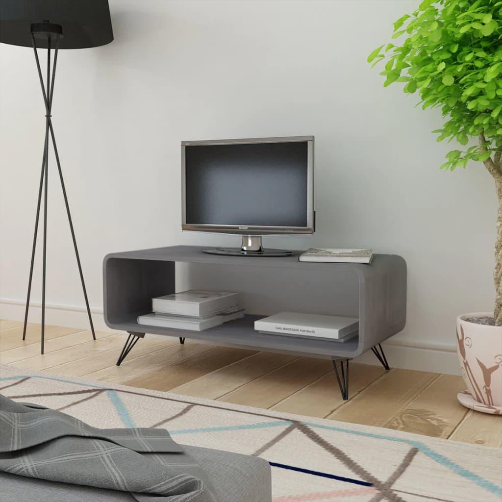 TV/konferenční stolek Hooper, úložný prostor, betonově šedý 89,5x39 cm
