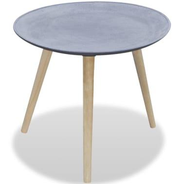 vidaXL Okrągły stolik boczny, szary, przypominający betonowy[1/4]