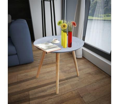vidaXL Okrągły stolik boczny, szary, przypominający betonowy[2/4]