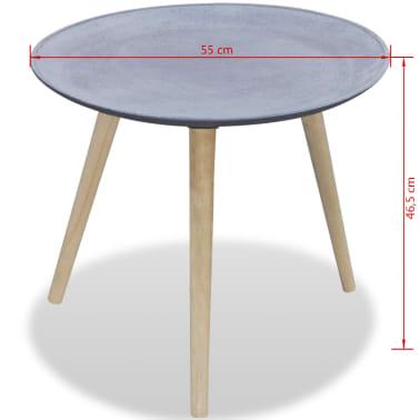 vidaXL Okrągły stolik boczny, szary, przypominający betonowy[4/4]