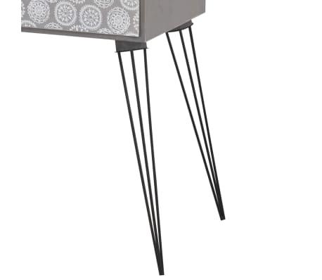 vidaXL sengebord med 1 skuffe rektangulær grå[5/6]