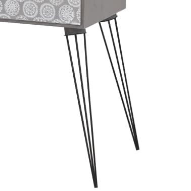 vidaXL Table de chevet avec 1 tiroir rectangulaire Gris[5/6]