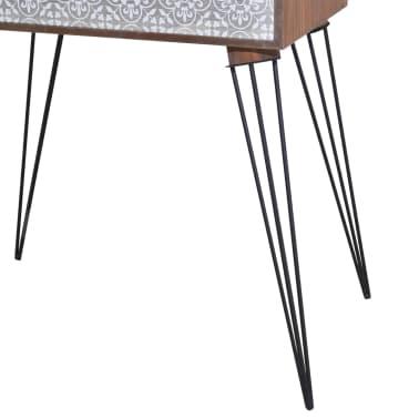 vidaXL Sängbord med 1 låda rektangulär brun[5/6]