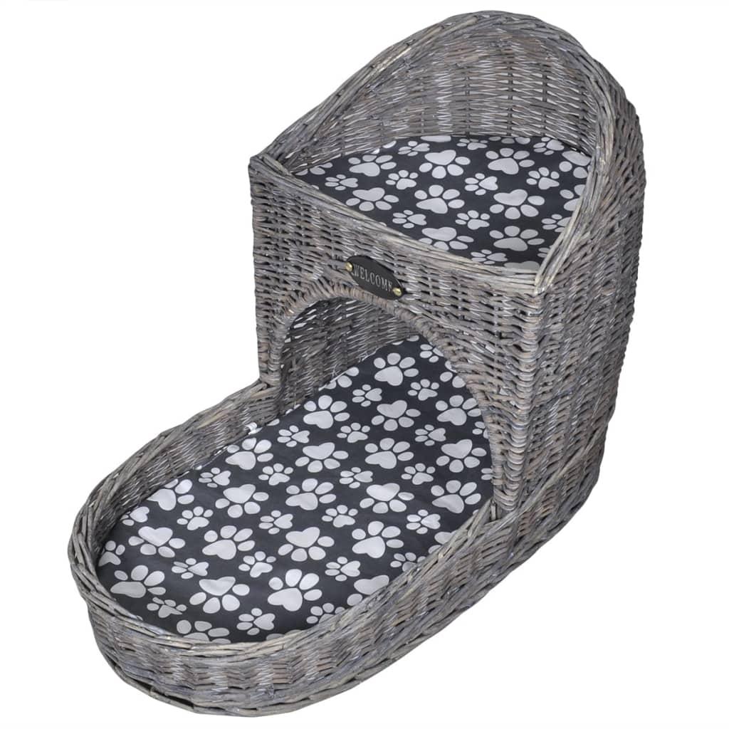 Kočičí škrabadlo/domeček/pelíšek, vrbové proutí, matrace, tvar stopy