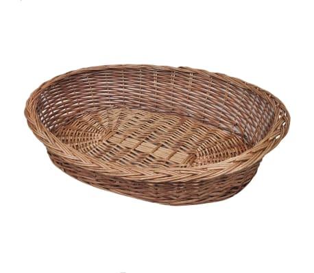 Willow Dog Basket/Pet Bed Natural 90 cm