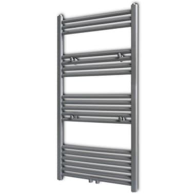 Šedý rebríkový radiátor na centrálne vykurovanie, rovný 600 x 1160 mm[1/9]