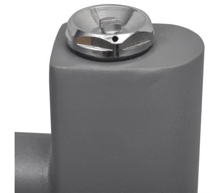 Šedý rebríkový radiátor na centrálne vykurovanie, rovný 600 x 1160 mm[5/9]