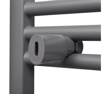 Šedý rebríkový radiátor na centrálne vykurovanie, rovný 600 x 1160 mm[6/9]