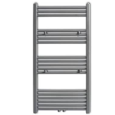 Šedý rebríkový radiátor na centrálne vykurovanie, rovný 600 x 1160 mm[2/9]