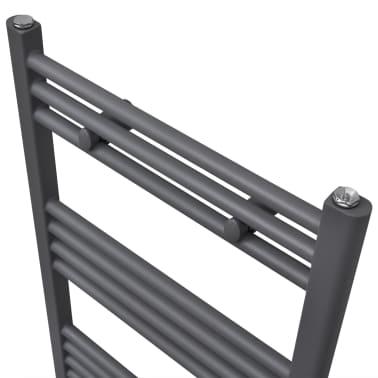 Šedý rebríkový radiátor na centrálne vykurovanie, rovný 600 x 1160 mm[3/9]
