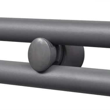 Šedý rebríkový radiátor na centrálne vykurovanie, rovný 600 x 1160 mm[4/9]