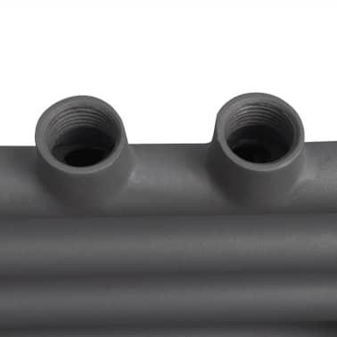 Šedý rebríkový radiátor na centrálne vykurovanie, rovný 600 x 1160 mm[7/9]