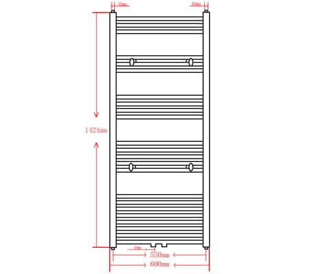 Pilkas Radiatorius, Rankšluosčių Džiovykla Vonios Kambariui 600x1424mm[9/9]
