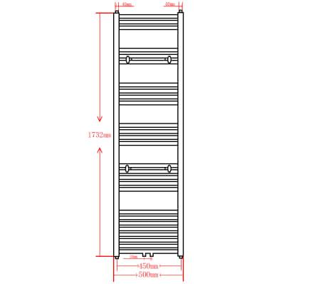 acheter s che serviettes eau chaude rails incurv s noirs de 500 x 1732 mm pas cher. Black Bedroom Furniture Sets. Home Design Ideas