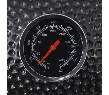 Kamado barbecue grill røgeovn keramisk 81 cm[7/8]